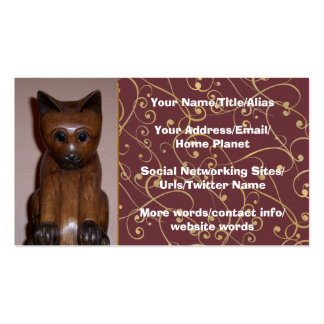 Wooden Cat Pack Of Standard Business Cards