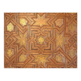 Wooden Ceiling with Golden Stars The Alhambra Postcard