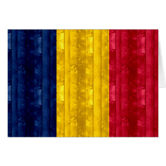 Wooden Chadian Flag Greeting Card