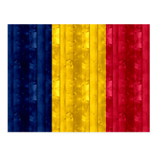 Wooden Chadian Flag Postcard