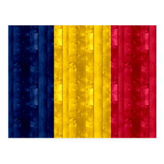 Wooden Chadian Flag Postcards