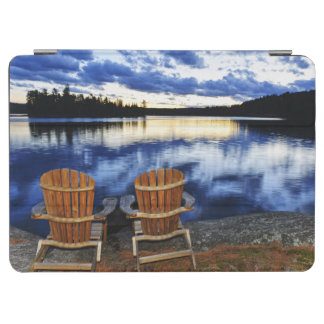 Wooden Chairs At Sunset On Lake Shore iPad Air Cover