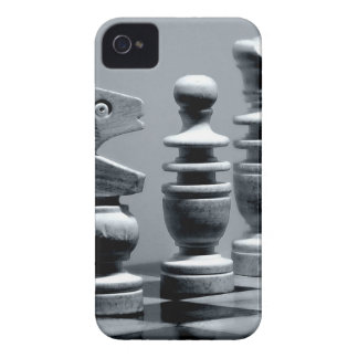 Wooden Chess Board Game Pieces Figures iPhone 4 Case-Mate Cases
