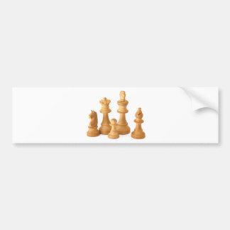 Wooden Chess Pieces Car Bumper Sticker