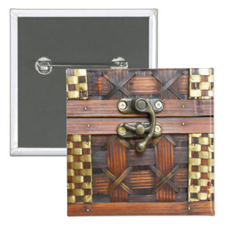 Wooden Chest with Metal Latch 15 Cm Square Badge