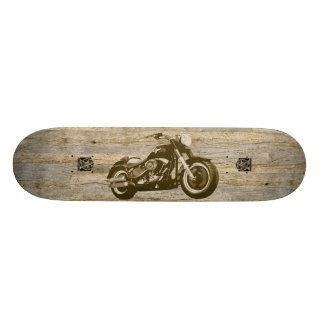Wooden Classic Motorcycle 20 Cm Skateboard Deck