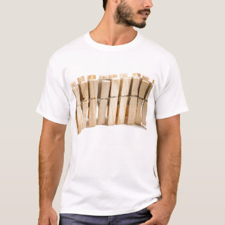 Wooden clothes pegs T-Shirt