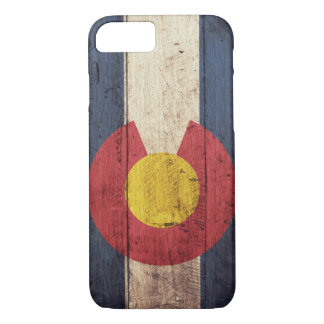 Wooden Colorado Flag iPhone 7 case