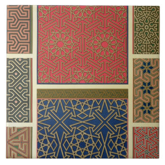 Wooden compartments and borders, from 'Arab Art as Large Square Tile
