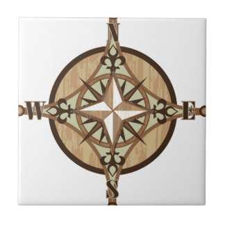 Wooden Compass vector Tile