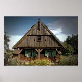 Wooden Cottage - Poster