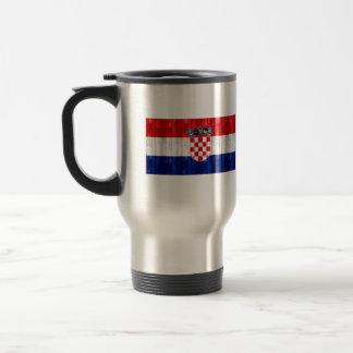 Wooden Croatian Flag Stainless Steel Travel Mug