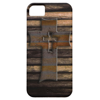 Wooden Cross Barely There iPhone 5 Case