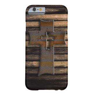 Wooden Cross Barely There iPhone 6 Case