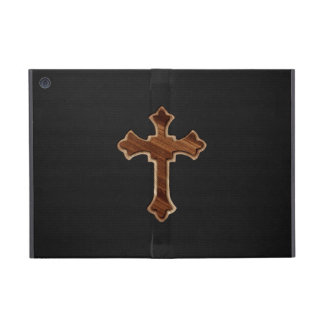 Wooden Cross on Dark Fabric Image Print iPad Mini Cover