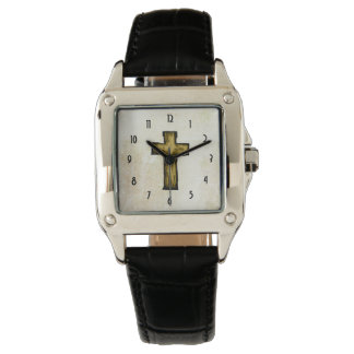 Wooden Cross Symbol of Faith and Hope Watch