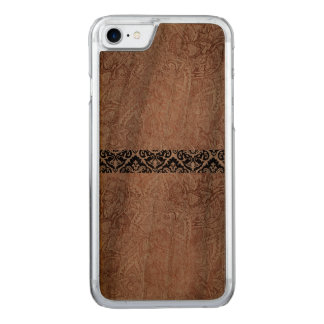 Wooden damask patterned phone case