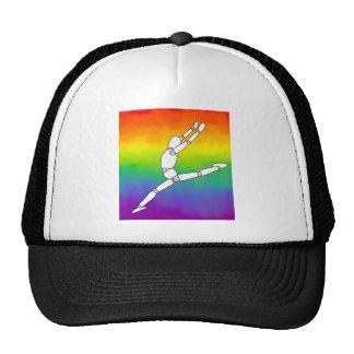 Wooden Dance pose on Rainbow Cap
