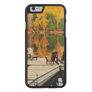 Wooden Dock On Autumn Lake Carved Maple iPhone 6 Case