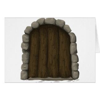 Wooden door card