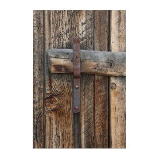Wooden door close-up, California Acrylic Wall Art
