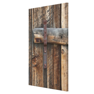 Wooden door close-up, California Canvas Print