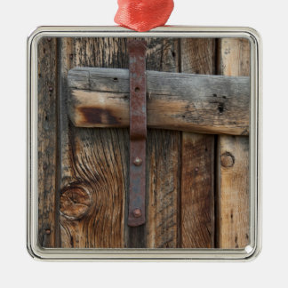 Wooden door close-up, California Christmas Ornament