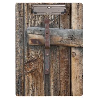 Wooden door close-up, California Clipboard