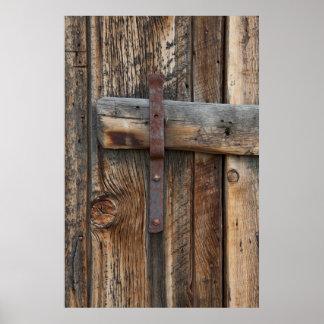 Wooden door close-up, California Poster