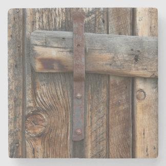 Wooden door close-up, California Stone Beverage Coaster