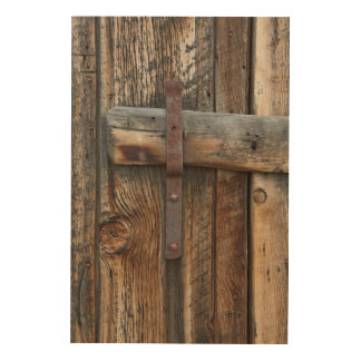 Wooden door close-up, California Wood Canvas