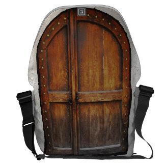 Wooden Door Pattern Messenger Laptop Bag Commuter Bags