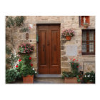 Wooden Door Tuscany Italy Personalised Postcard