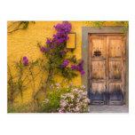 Wooden doorway postcard