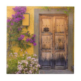Wooden doorway tile