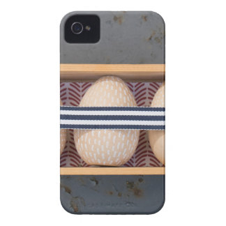 Wooden eggs in a box iPhone 4 Case-Mate case