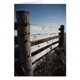 Wooden Farmland Fence Note Card