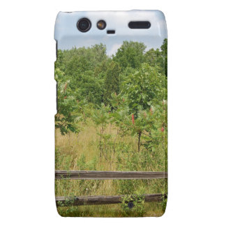 Wooden Fence and Meadow Droid RAZR Cover