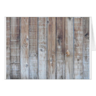 Wooden Fence Greeting Card
