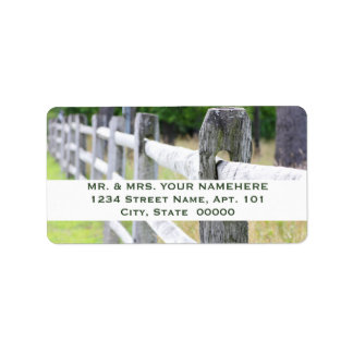 Wooden Fence Labels