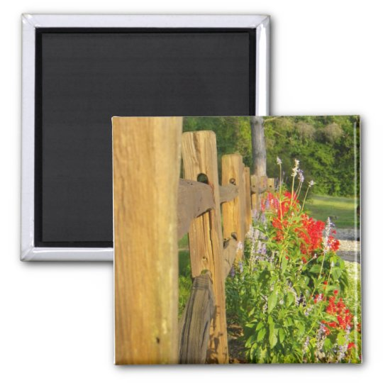 Wooden Fence Magnet
