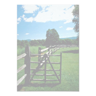 "Wooden fence, Vermont, U.S.A. 5"" X 7"" Invitation Card"