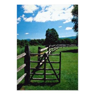 Wooden fence, Vermont, U.S.A. Announcement