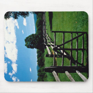 Wooden fence, Vermont, U.S.A. Mouse Pad