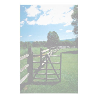 Wooden fence Vermont U S A Customized Stationery