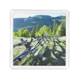 Wooden Fenceline Acrylic Tray