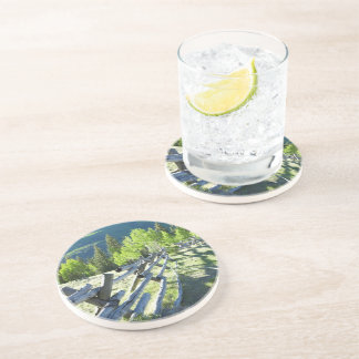 Wooden Fenceline Beverage Coasters