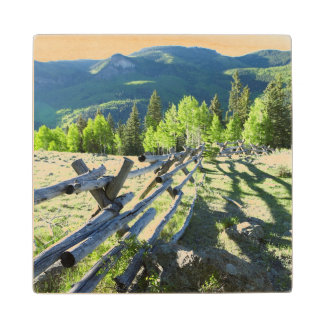 Wooden Fenceline Wood Coaster