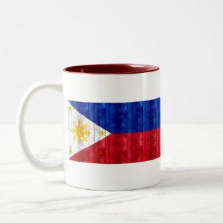 Wooden Filipino Flag Coffee Mugs
