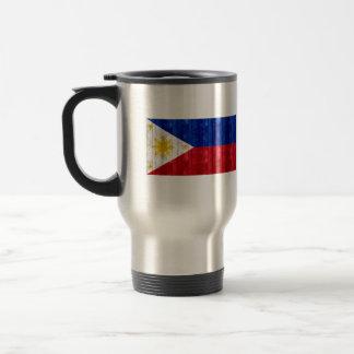 Wooden Filipino Flag Mug